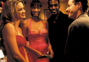 Bridgette Wilson-Sampras - Bridgette Wilson, Tyra Banks, Bill Bellamy and French Stewart in Love Stinks