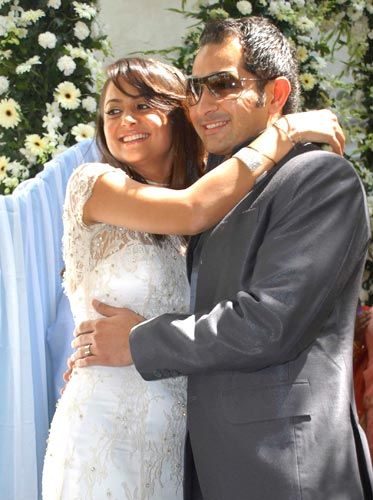 Amrita Arora  & Shakeel Ladhak on Wedding Day