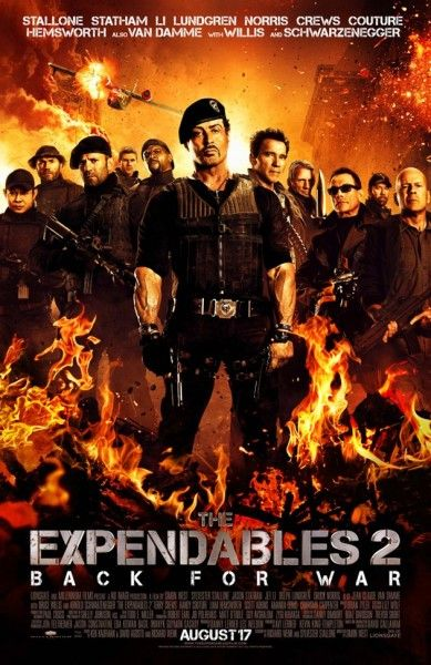 Arnold Schwarzenegger - The Expendables 2 Movie Poster