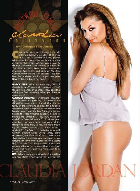 Claudia Jordan - Black Men Magazine October 2010