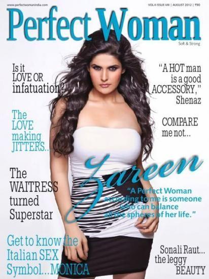 Zarine Khan - Perfect Womanhood Magazine Cover [India] (August 2012)