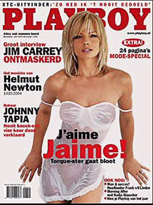 Jaime Pressly - Playboy Magazine Cover [Netherlands] (April 2004)