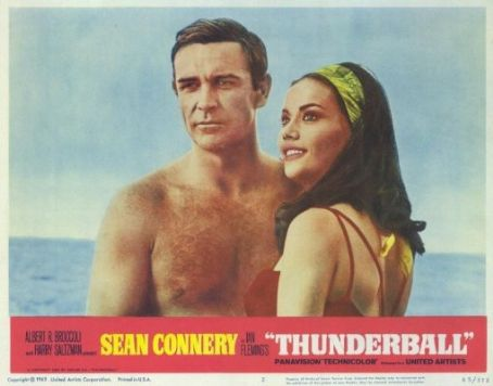 Thunderball Sean Connery and Claudine Auger in  (1965)