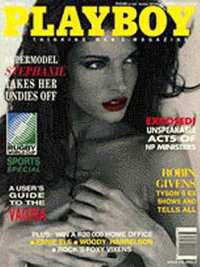 Stephanie Seymour - Playboy Magazine Cover [South Africa] (May 1995)