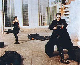 The Matrix Keanu Reeves and Carrie-Anne Moss