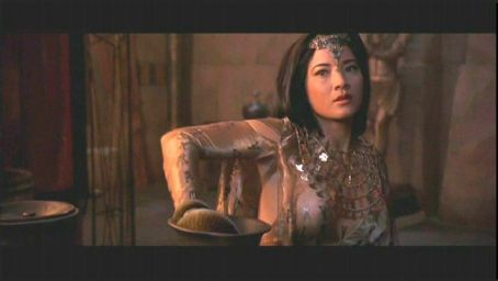Cassandra Kelly Hu as The Sorceress in action adventure movie The Scorpion King - 2002 distributed by Universal Pictures