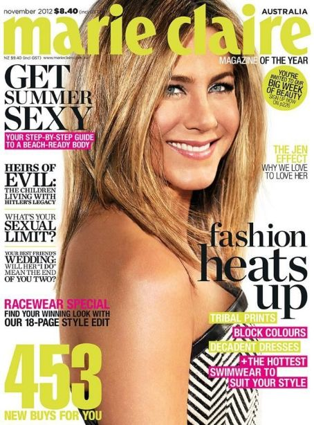 Jennifer Aniston - Marie Claire Magazine Cover [Australia] (November 2012)