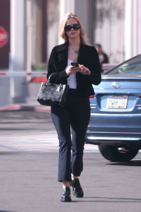 Jennifer Lawrence out in Westwood