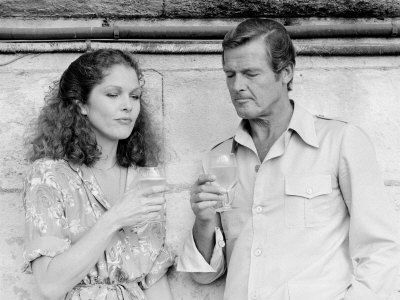 Roger Moore  and Lois Chiles