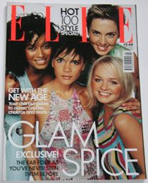 Emma Bunton, Geri Halliwell, Melanie Chisholm, Victoria Beckham, Melanie Brown - Elle Magazine Cover [United Kingdom] (1 January 2000)