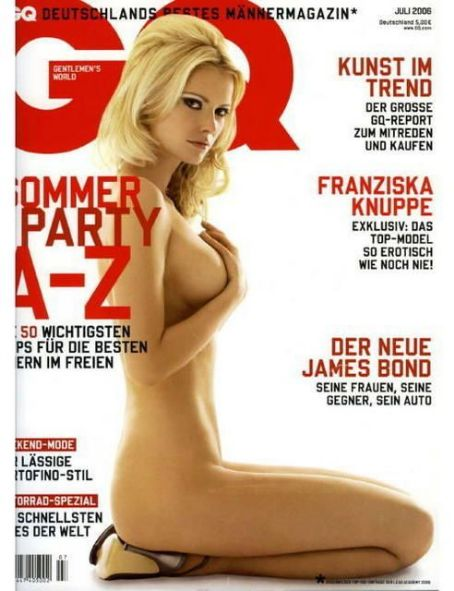 Franziska Knuppe - GQ Magazine Cover [Germany] (July 2006)