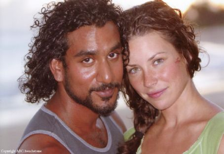 Naveen Andrews Evangeline Lilly as Kate and  as Sayid on Lost