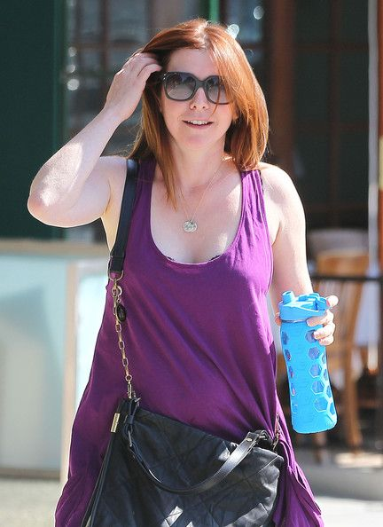 Alyson Hannigan leaving the gym after a work out in Los Angeles, California on July 31, 2012