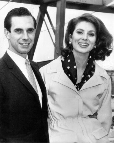Bradford Dillman With Wife Suzy Parker