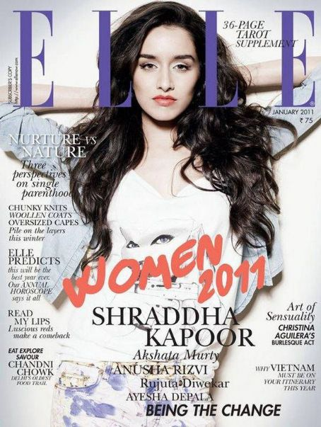 Shraddha Kapoor  Elle India January 2011
