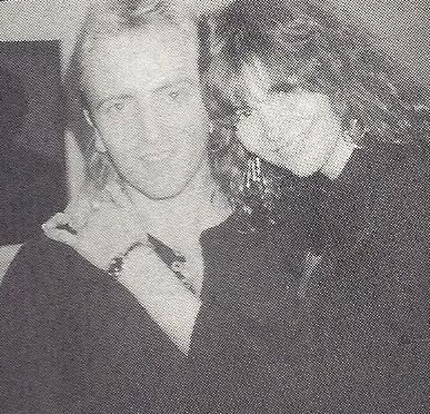 Jacqueline Collen Phil Collen and wife Jackie at the annual NAMM Convention in Anaheim, CA January 18th-21st 1991