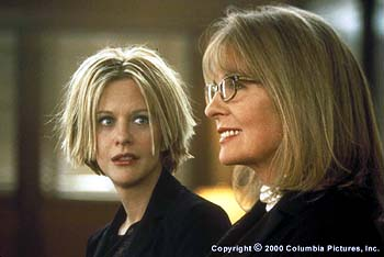 As they wait for news about their father, Eve (Meg Ryan, left) and Georgia (Diane Keaton) have a heart-to-heart between sisters in the Columbia Pictures presentation, Hanging Up - 2/2000