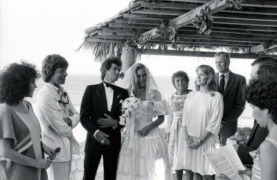 Keith Richards - Keith and Patti on their wedding day