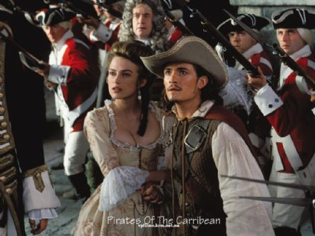 Pirates of the Caribbean: The Curse of the Black Pearl Keira Knightley and Orlando Bloom