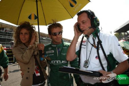 Jarno Trulli and Barbara Trulli