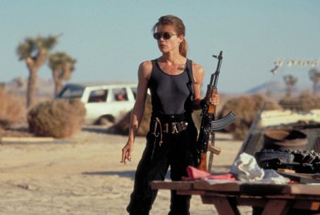 Terminator 2: Judgment Day Linda Hamilton ('Sarah Connor') stars in Lionsgate Home Entertainment's Terminator 2 Skynet Edition Blu-ray.