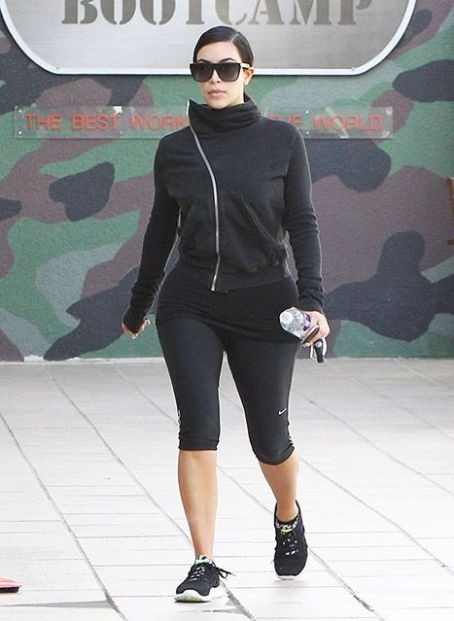 Kim Kardashian Hits the Gym After Waist Training Selfie -- See the Star Looking Svelte