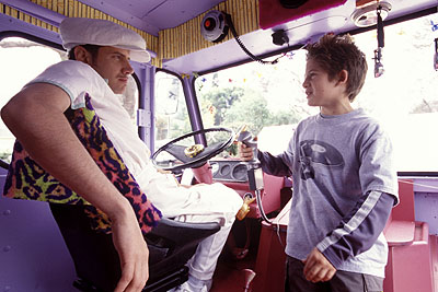Alex D. Linz Jamie Kennedy as the Evil Ice Cream Man and  as Max in Disney's Max Keeble's Big Move - 2001