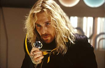 The Hitchhiker's Guide to the Galaxy Sam Rockwell as Zaphod Beeblebrox in Disney Pictures' adventure The Hitchhiker's Guide to the Galaxy.
