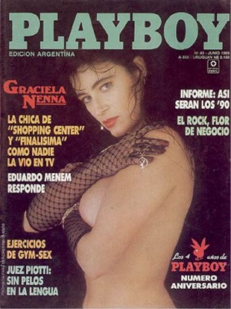 Graciela Nenna - Playboy Magazine Cover [Argentina] (June 1989)