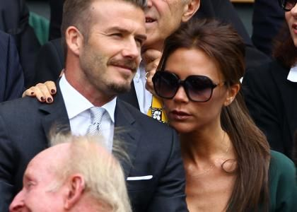 David & Victoria Beckham Cheer On Andy Murray at Wimbledon Final