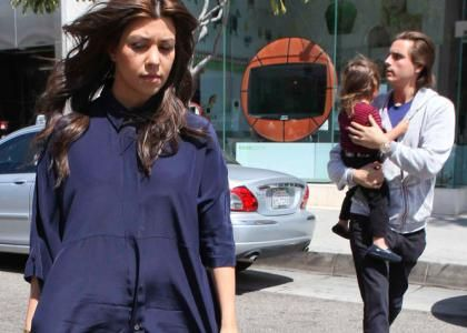 Kourtney Kardashian's Lunch Date With Scott & Mason