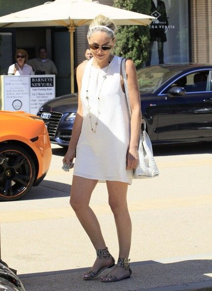 Sharon Stone shops Barneys New York in Beverly Hills, California on June 23rd, 2012