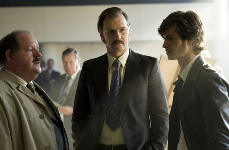 Andrew Garfield John Henshaw as Bill Hadley, David Morrissey as Maurice Jobson and  as Eddie Dunford in RED RIDING 1983 directed by Anand Tucker. Photo Credit: Phil Fisk. An IFC Films release