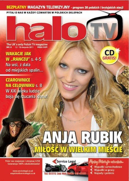 Anja Rubik - Halo TV Magazine Cover [United Kingdom] (12 August 2011)