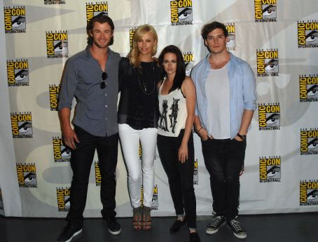 Sam Claflin Kristen Stewart at the Snow White and the Huntsmen Panel Discussion during Comic-Con 2011 on July 23, 2011 in San Diego, California
