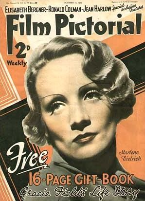 Marlene Dietrich - Film Pictorial Magazine [United Kingdom] (12 October 1935)