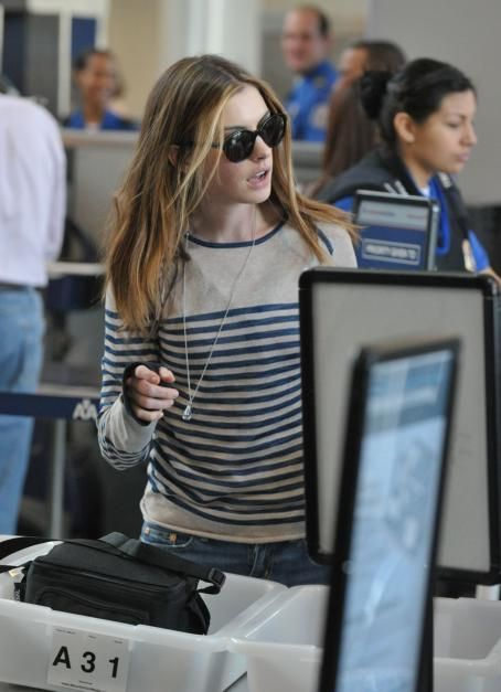 Anne Hathaway at LAX Airport - March 1, 2011
