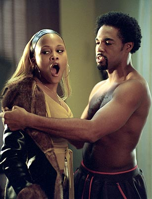 Eve and Jason George in MGM's Barbershop - 2002