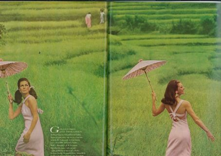 June 1966 - US Vogue. Marie-Lise Gres and Fiona Campbell by Henry Clarke