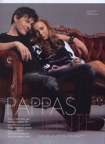 Morten and daughter Tomine. Elle Magazine
