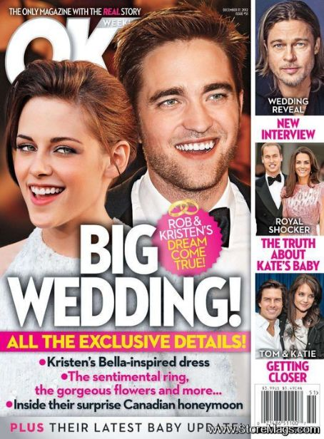 Robert Pattinson - OK! Magazine - 17 December 2012