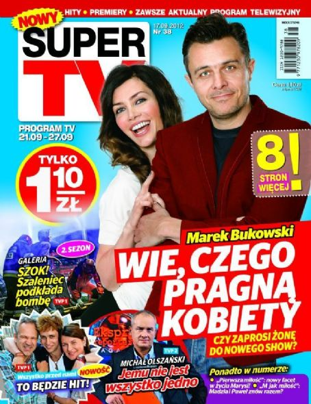 Marek Bukowski, Ewa Bukowska - Super TV Magazine Cover [Poland] (21 September 2012)