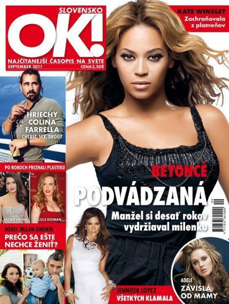 Beyoncé Knowles - OK! Magazine Cover [Slovenia] (September 2011)