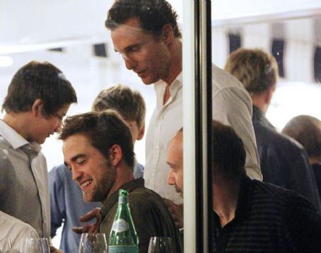 Matthew McConaughey Greets Robert Pattinson in France