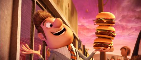 Bruce Campbell 'Mayor Shelbourne' voiced by  in Columbia Pictures' animated film CLOUDY WITH A CHANCE OF MEATBALLS. Photo By:  Courtesy of Sony Pictures Animation. ©2009 Columbia TriStar Marketing Group, Inc. All Rights Reserved.