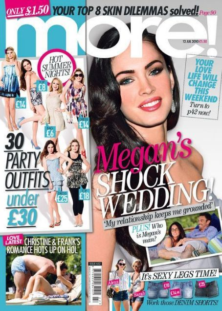Megan Fox - More! Magazine Cover [United Kingdom] (12 July 2010)