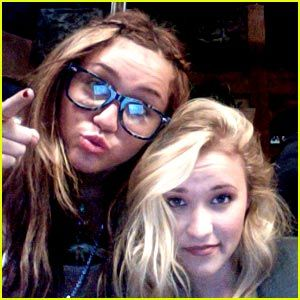 Miley Cyrus & Emily Osment: Photobooth Fun!