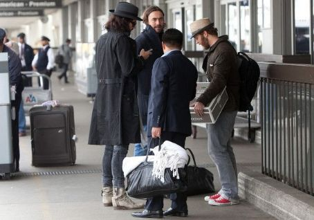 Russell Brand arrives at LAX (Los Angeles International Airport)