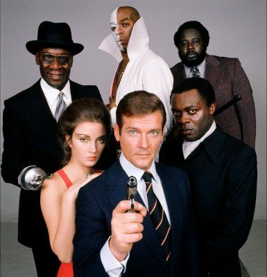 Yaphet Kotto Promo of Roger Moore, Jane Seymour, , Geoffrey Holder, Julius Harris, Earl Jolly Brown in Live And Let Die (1973)
