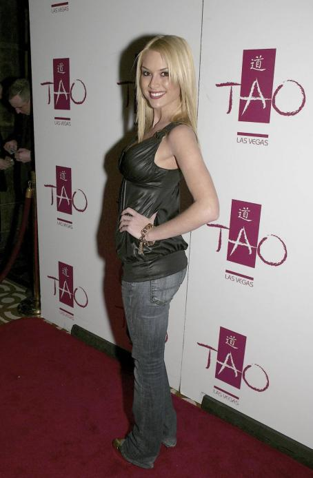 Tara Conner In Jeans And Latex Top Hosting A Party At TAO Las Vegas - Feb 27 2008